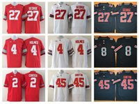 archie football - Ohio State Buckeyes Football Jerseys College Cris Carter Eddie George Jersey Santonio Holmes Archie Griffin th Championship