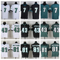 Wholesale HOT SALE Men s Eagles Elite Football Jerseys Ron JAWORSKI SPROLES MATTHE High Quality Stitched authentic Three Colors Allowed