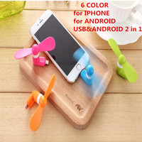 Wholesale Summer Mini USB Dock Fan iPhone Android USB Micro Cellphone MINI multicolor Cooler Rotary Handy Fan for samsung huawei sony ipad htc iphone