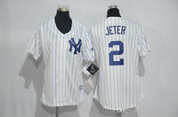 Wholesale Yankees Jeter Blue Stripe Baseball Jerseys Men Baseball Apparel Original Professional Baseball Uniform