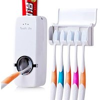 Wholesale Lazy Person Products Family toothbrush sets Automatic Toothpaste Dispenser Toothbrush Holder sets