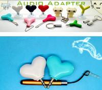 bearing splitter - Cute Bear shape music splitter Custom Cartoon shape earphone splitter dhl in stock mm stereo headphone