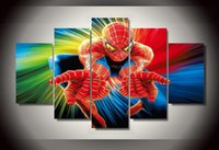 african poster art - 5Pcs With Framed Printed Movie Spider Man Group Painting room decor print poster picture canvas african canvas art