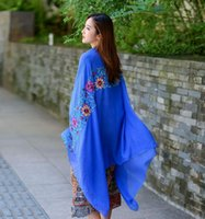 Wholesale new big size embroidery flower scarves shawls high quality cotton material fashion comfortable various colors