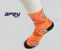 ankle toe socks for women - APEY women printed toe socks breathable sports socks for women color flower men socks in british style