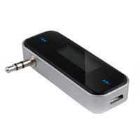Wholesale 3 mm Car Wireless Music FM Radio MP3 Transmitter For Android iPod iPad iPhone S S Galaxy S2 S3 HTC