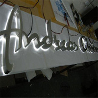 Wholesale Factory Outlet Outdoor stainless steel lighted sign letters