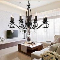 Wholesale 2016 Hot Sales Modern Ceiling lamp Candle Lights Lighting Fixtures Black Chandelier Pendant Light Factory Price