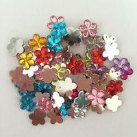 Wholesale 100 pieces Random mixing Acrylic plum blossom Flat Back Scrapbook Craft Wedding decoration B01A