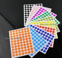 Wholesale cm Circle Round Color Coded Label Dot Sticker Inventory Code Tag