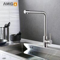 Wholesale SUS304 kitchen faucet stainless steel sink faucet kithchen mixer single handle single hole mixer rotation import German
