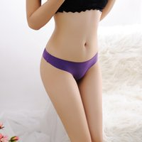 Wholesale ZW234 Summer Style Briefs Underwear Women Seamless Ultra thin Ice Panties G String Thong A Female T Pants