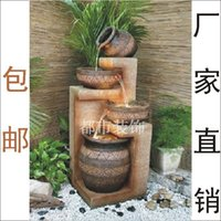 balcony water features - Unique Gifts Resin fashion indoor balcony water features decoration water fountain home accessories gift Lucky Gifts