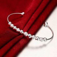 Cheap Sand light beads silver bracelet Popular fashion elegant snap jewelry charm bracelet fit Noosa chunk snap alloy button for women