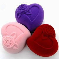Wholesale Luxurious Flannel Jewelry Boxes Ring Box Earring Holders Wedding Favors Storage Case Gift Giving for Women JB0008