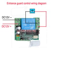battery access - Wireless RF Remote Control Switch DC V A CH Transmitter With Battery Receiver Access door System