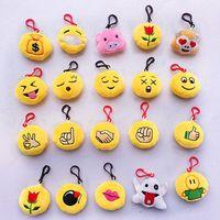 Wholesale QQ emoji plush pendant Key Chains Emoji Smiley Small pendant Emotion QQ Expression Stuffed Plush doll toy for Mobile bag pendant