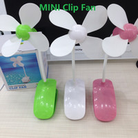 Wholesale 2016 Mini Portable Clip Fan With Retail Package USB Charging Rechargeable For Desk Home Outdoor Indoor Zero One Two Gift In Stock