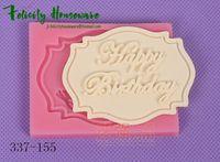 bakery birthday cake - Hot New Fondant Cake Birthday Brand Molds Set Silicone Molds bakery cupcake decorating tools Cake Decorating Tool Chocolate Molds