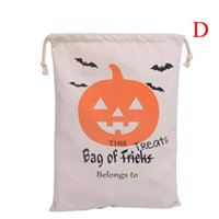 Wholesale 10pcs Halloween gifts canvas bag Christmas Gift Large Santa Sack Candy drawstring Bags for christmas Shopping Bags
