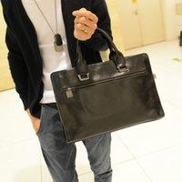 Wholesale Luggage Bags Briefcases leather bag Men briefcase leisure handbag men shoulder bag handbag business work new fashion briefcase