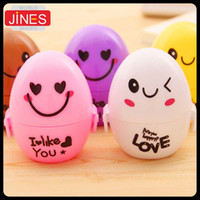 Wholesale New Stationery cartoon small fresh egg pencil sharpener pencil machine Cute Students prizes