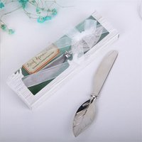 Wholesale 300pcs Leaf Shape Bread Handle Master Butter Tool Spreader Silver Plate Vintage Stainless Steel Silverware Metal Gift ZA0585