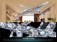 Wholesale Modern LED light ring round stainless steel adjustable LED light crystal chandelier
