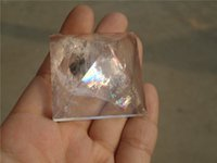 bamboo collection - NATURAL CLEAR WHITE QUARTZ CRYSTAL PYRAMID For Gift For Collection mmx40mm
