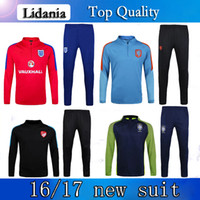 best brazil - 2016 England Brazil Dutch Turkish Soccer Tracksuit Best Quality Long sleeve Training suits for Football uniforms