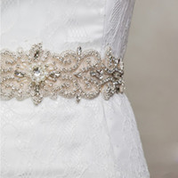 beaded belt sash - 2015 Stunning Bridal Sashes Beaded Dazzling Wedding Belts Elastic Satin Pearl Crystal Bridal Accessories For Wedding Dress