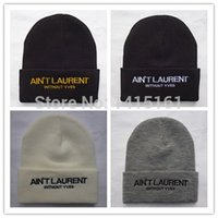 laurent - 2014 new arrived Hot Sale Casual Fashion Cap Knitted Ain t laurent Beanie Warm Winter Hats Unisex beanies hat