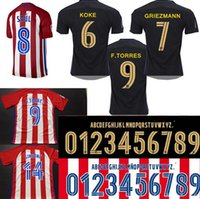 Wholesale Atletico Madrid Kids Jersey GRIEZMANN home away F TORRES thai quality Atletico Madrid football shirt soccer jersey