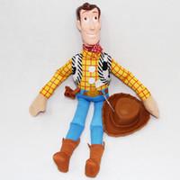 al por mayor la cara de la muñeca de goma-Juguete de felpa de dibujos animados encantadores juguetes de goma Historia de la cara de Woody Sheriff del juguete de la felpa de la muñeca del regalo de cumpleaños del envío rápido