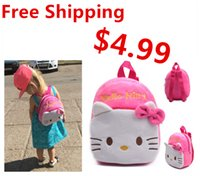 Wholesale Small size plush backpack withfoot Lovely Children s School bag plush bag candy bags cute toys for kids for Christmas gifts