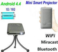 Wholesale DHL Android Mini Smart Projector G G WiFi Bluetooth P Media Player Home Theater AirPlay Projector