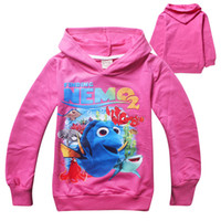 baby clown fish - 2016 new Finding Nemo Dory Baby Kids Hoodies Nemo Dory Girls Clown fish Hoodies Sweatshirts children clothing Colors