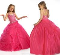 amazing weddings - 2016 Amazing Ball Gown Flower Girl Dresses for Weddings One shoulder Sequins Beads Ruffles Sash Floor Length Girl s Pageant Dresses