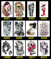 Wholesale Tattoos Stickers Big Size Arm Temporary Tattoos Fashion Male Female High Quality Sexy Tattoo Paste Styles TA004