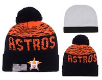 beach houston - 2016 New Arrival Houston Astros Pom Basball Knit Beanie Hats Sport Beanies For Men and Women Knitted Skullies Warm Winter Pom pom Caps