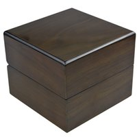 antique wood display case - Watch Box Luxury Solid Rosewood Watch Box Single Grid Watch Case Display Packaging Gift High Quality Box for Watches