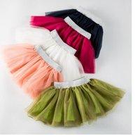 Wholesale 2016 new Europe girl princess three layer gauze skirt fashion girl tutu skirt