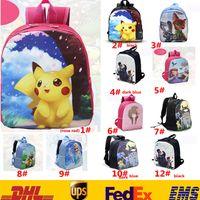 Wholesale 12 Style Hot Poke Pikachu Sofia Minions Sweet Girls Backpacks Children Kids Cartoon Shoulder Bags Unisex Boys Girls School Bags L ZJ B05
