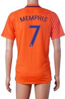 away design - Design custom thai Quality MEMPHIS soccer Jerseys shirts new season Netherlands away national team V PERSIE Football Jersey tops