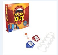 Wholesale Speak Out Game Best Selling Board Game Interesting Party Game for christmas for hallowmas Of with high quality and fast shippment CC