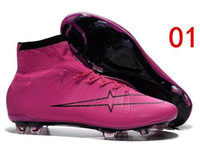Wholesale Fashion New Men s Soccer Boots Mercurial Superfly FG CR7 Shoes Cleats Laser original Men shoes Soccer Shoes Football Shoes