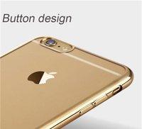 aluminium electroplating - 2016 NewIPhone S Case Ultra Thin Electroplating Technology TPU Transparen Silicone Case Metal CASE Aluminium Frame for iphone plus Samsung