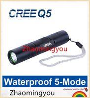 aluminum penlight - Powerful Cree Q5 LED Flashlight Lampe Torche Mode Aluminum Penlight Linterna LED Lanternas Waterproof LED Torch Light S5