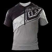 Wholesale Troy Lee Designs TLD Ace Bike Jersey Elite Gray Mens Moto GP bike clothes drop short sleeved T shirt MR77