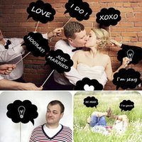 Cheap New Product ! Wedding Ideas Photo MINI CHALKBOARD SIGNS With SKEWERS Wedding Birthday Party Favor